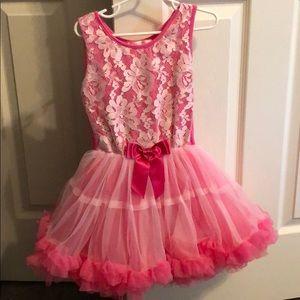 Girls pink tutu dress size 5/6